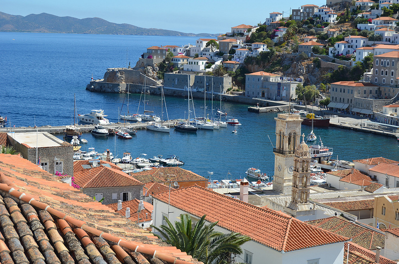 Photographie du port d'Hydra