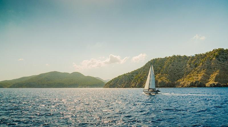 Bateau voilier mer