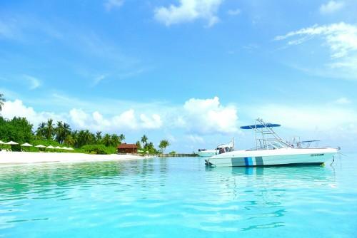 Bateau aux Maldives