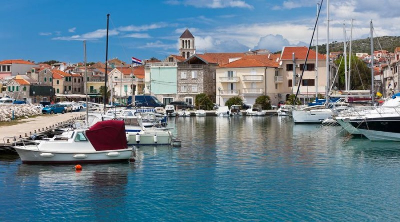 Vodice is a small historic town on the Adriatic coast in Croatia