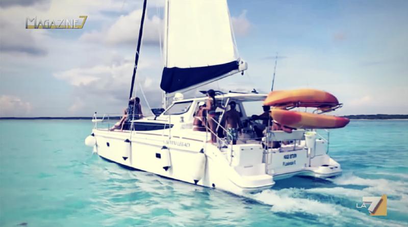 Capture d'écran d'un catamaran prise de la vidéo de magazine 7 à propos de Filovent