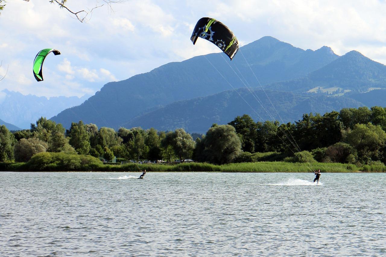 Faire du kitesurfing