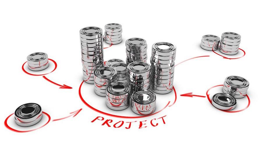 Photomontage explicatif d'un financement participatif