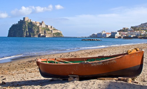 beach on ischia, italy
