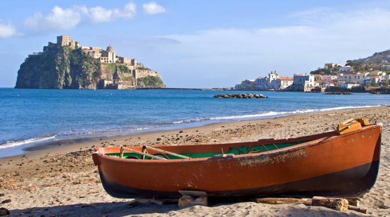 beach on ischia, italy