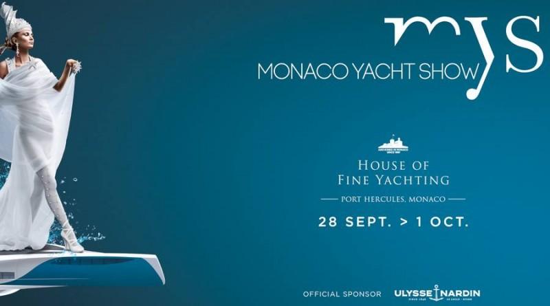 Bannière du yacht show de Monaco