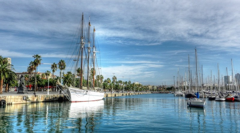 Navire à Barcelone