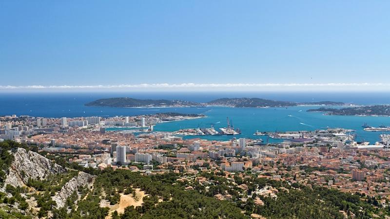 Photographie de Toulon, vu des hauteurs