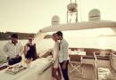 Photographie d'amis sur un Prestige Yacht 680