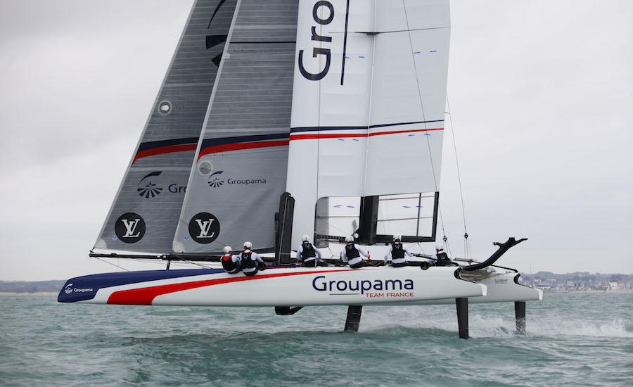 Photographie de l'AC 45 de la Groupama Team France