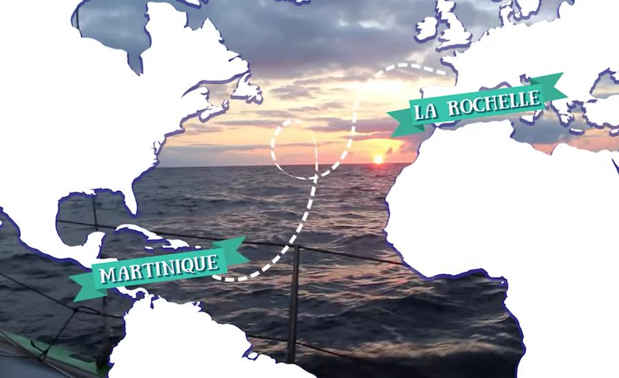 Photographie de l'itinéraire de la transatlantique de Capitaine Rémi