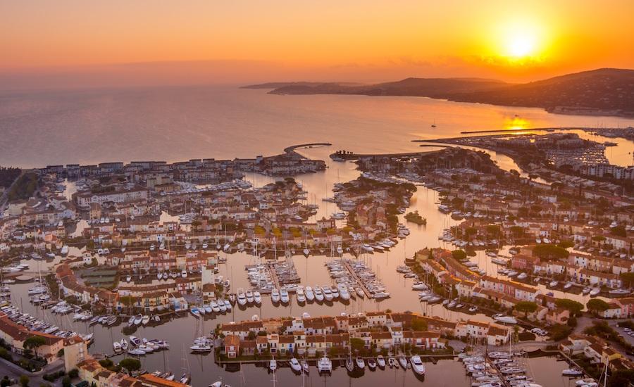 Photographie de Port Grimaud, vu du ciel