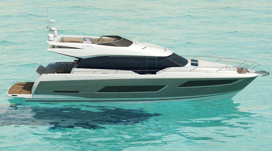 Dessin 3 dimensions du Prestige Yacht 680S