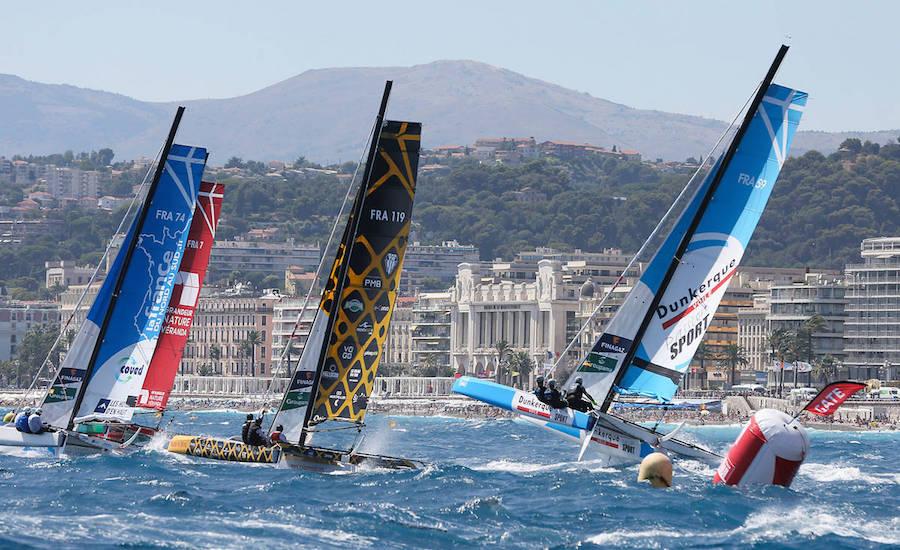 Photographie de l'étape du tour de France à la voile, à Nice