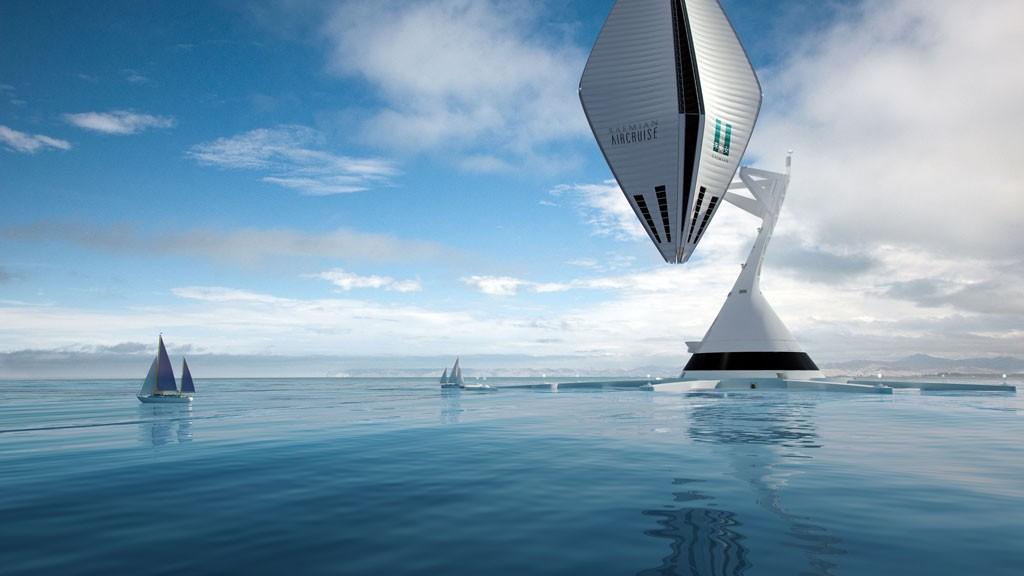 Maquette digitale du bateau Aircruise