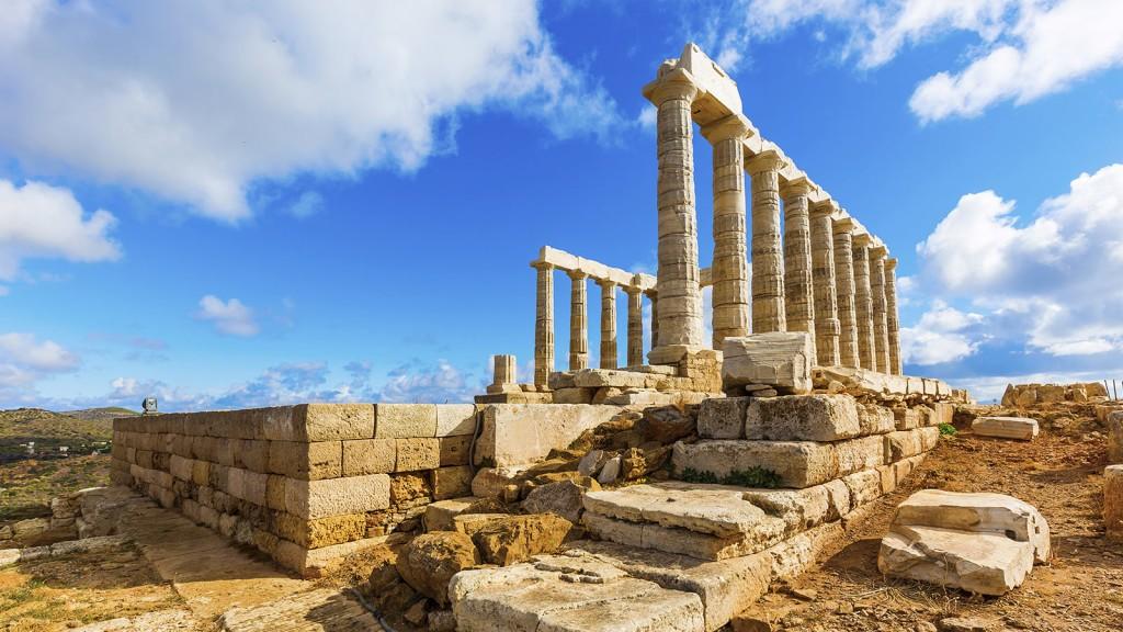 Photographie du temple de Poséidon
