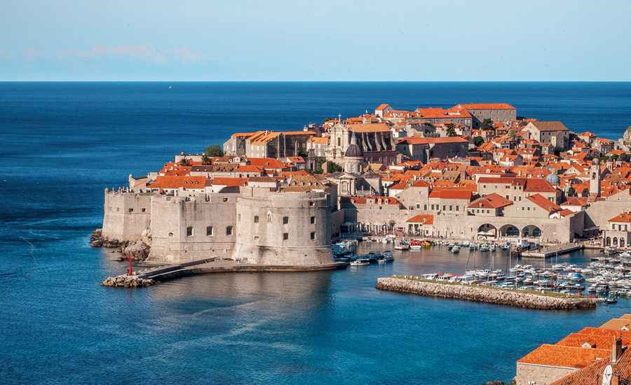 Photo du port de Dubrovnik depuis la mer