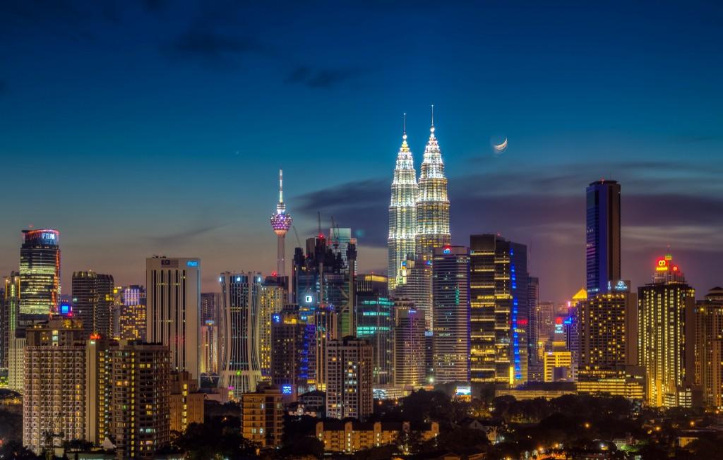 Night view in Kuala Lumpur