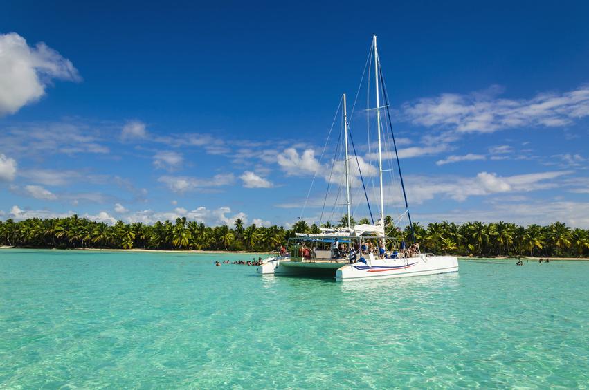 Photographie d'un catamaran à l'Ile Maurice