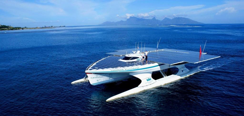 Vue du bateau Planet Solar