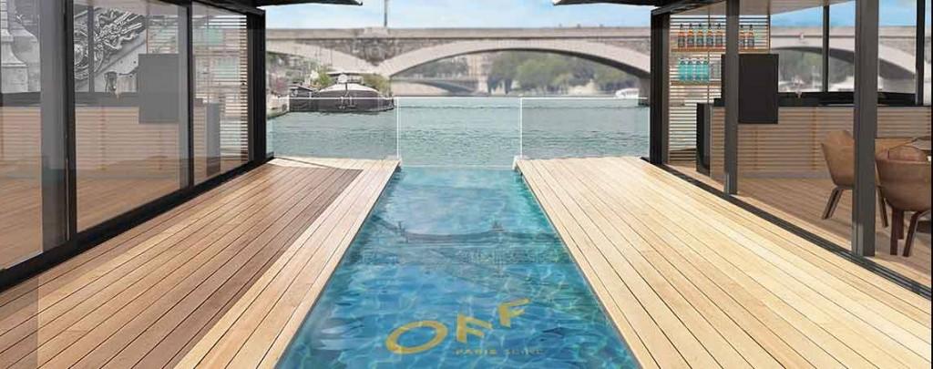 Plan 3D du futur bateau Off sur la Seine