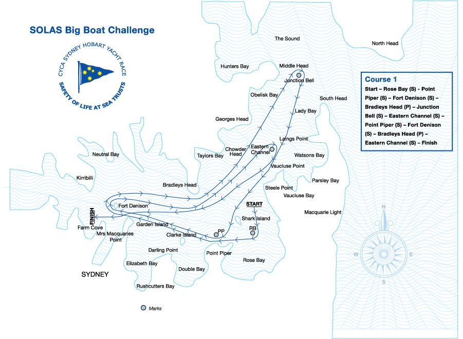 carte itinéraire course Hobart