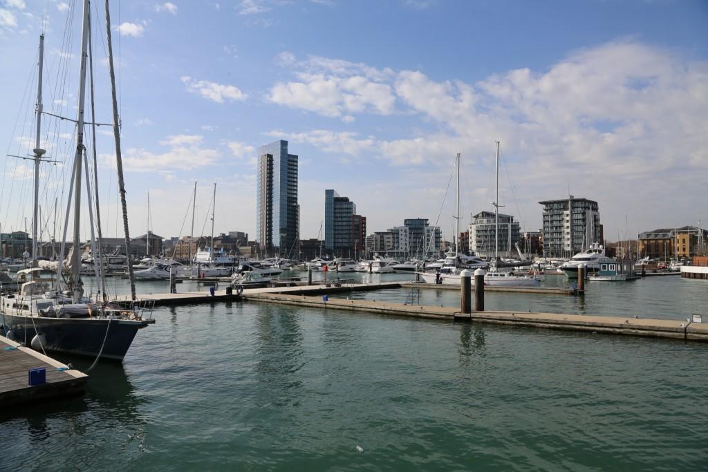 Photographie de la marina de southampton